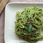 mint pea pesto linguine