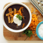 Smoky Black Bean Tortilla Soup