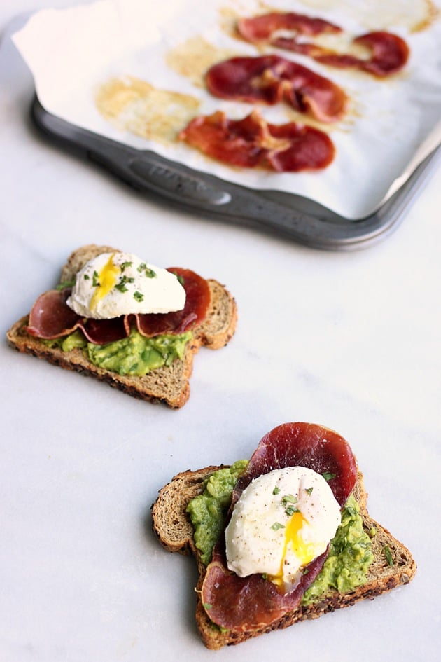 Poached Egg + Crispy Prosciutto Avocado Toast1