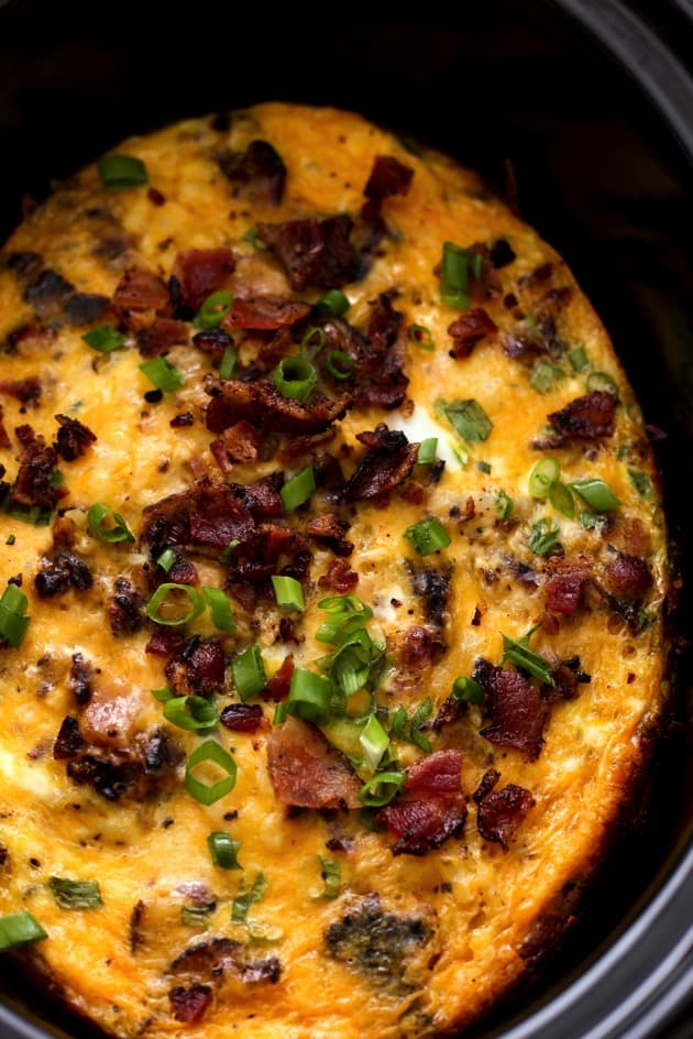 Slow Cooker Bacon Egg  Hashbrown Casserole 3