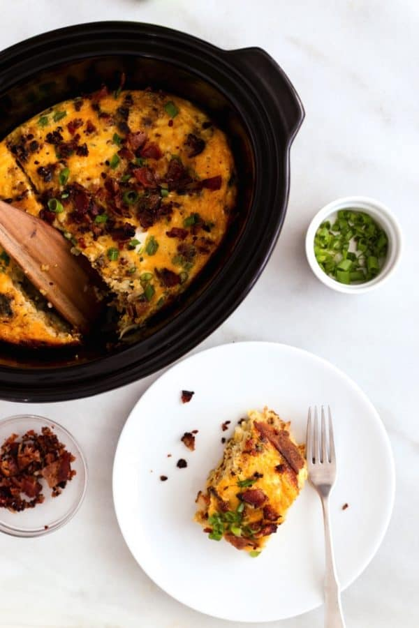 Hash Brown Breakfast Casserole Recipes With bacon and vegetables in the mix, this egg and hash brown breakfast casserole is a step above the classic. A hearty bacon, egg, and hash brown casserole for the bacon lover in all of us. Feel free to use turkey bacon rather than pork!