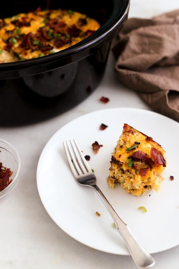 Slow Cooker Bacon Egg  Hashbrown Casserole 5