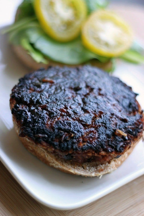 bbq black bean & brown rice burgers9