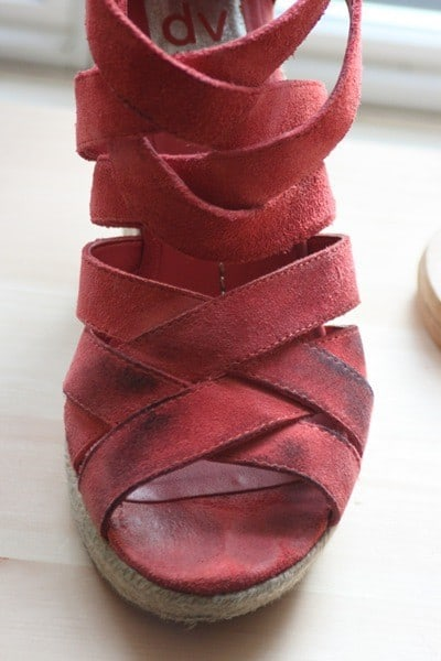 how to remove jean dye from suede shoes