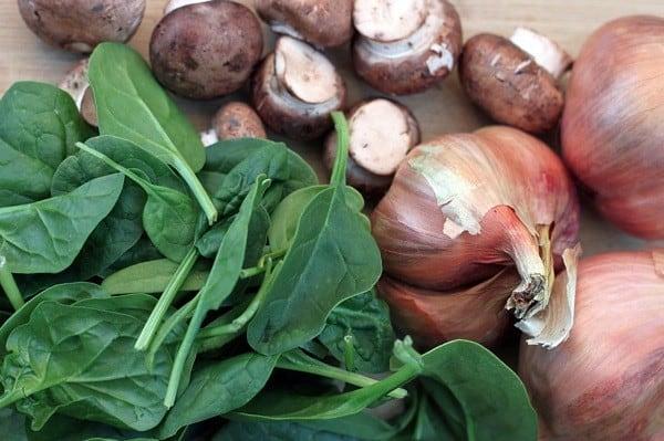 Mushroom spinach risotto1