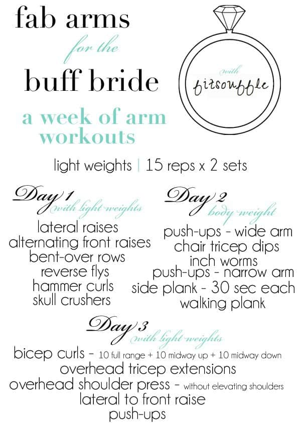 Arm workout for bride