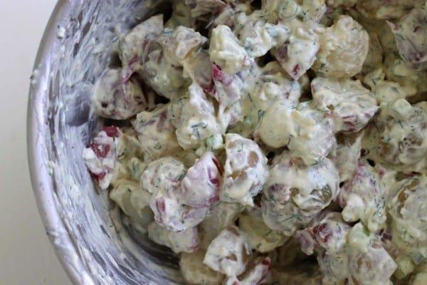 Greek yogurt vinegar dill potato salad3
