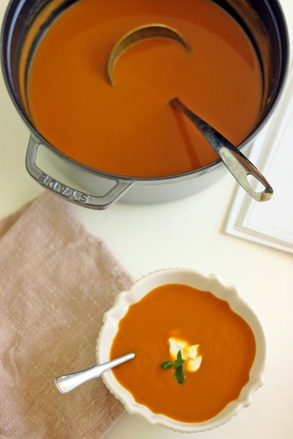 Curried butternut squash soup4