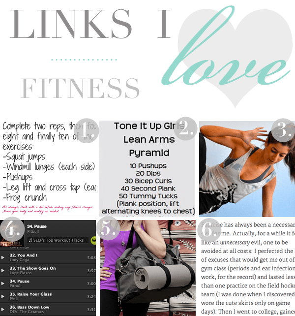 fitness links i love nutritionella