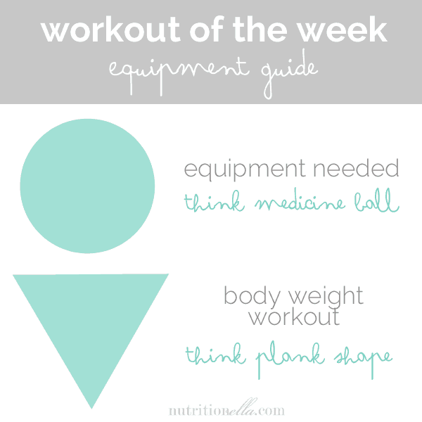 Workout of the week equipment guide