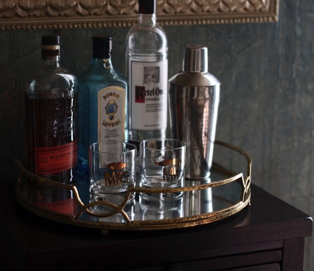 Glamorous mirrored mini bar 2 according to elle