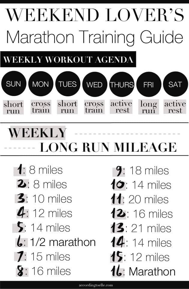 Friday long run marathon training plan