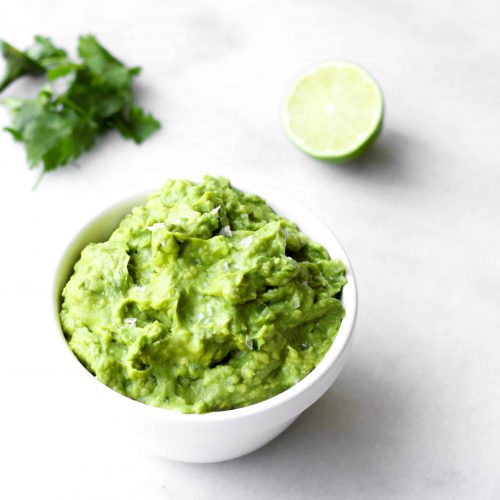 5 Minute Guacamole - It doesn't take a lot to bring out the best in avocado. This recipe is super simple and delicious! | www.accordingtoelle.com