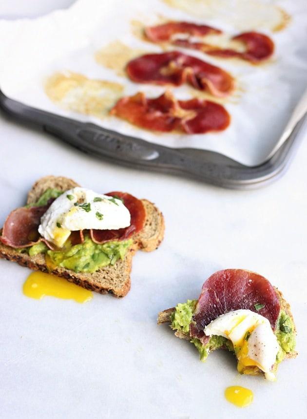 Poached Egg + Crispy Prosciutto Avocado Toast 5