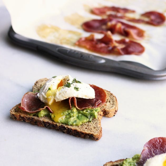 Poached Egg + Crispy Prosciutto Avocado Toast3