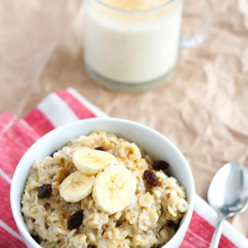 Morning Eggnog Oatmeal