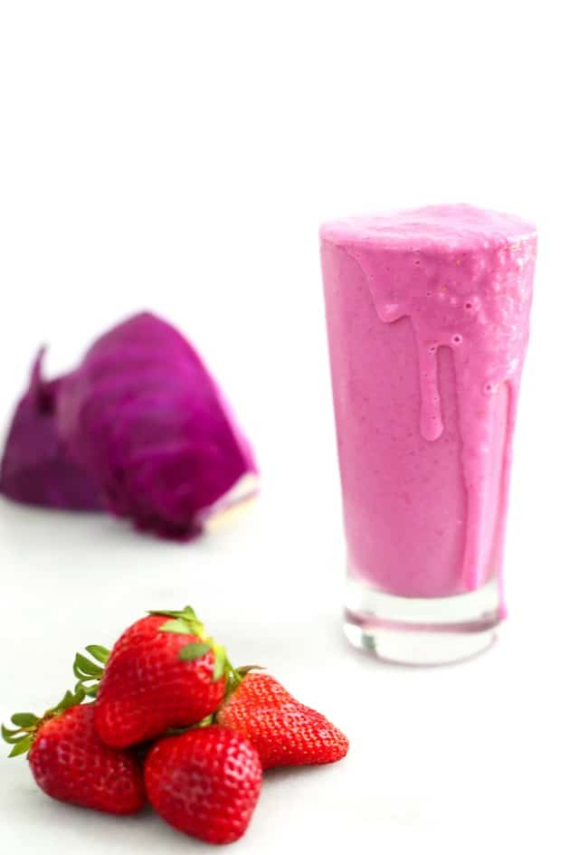 Strawberry Cabbage Smoothie 6
